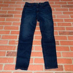 """Madewell Dark Wash 10"""" High Rise Skinny Jeans"""